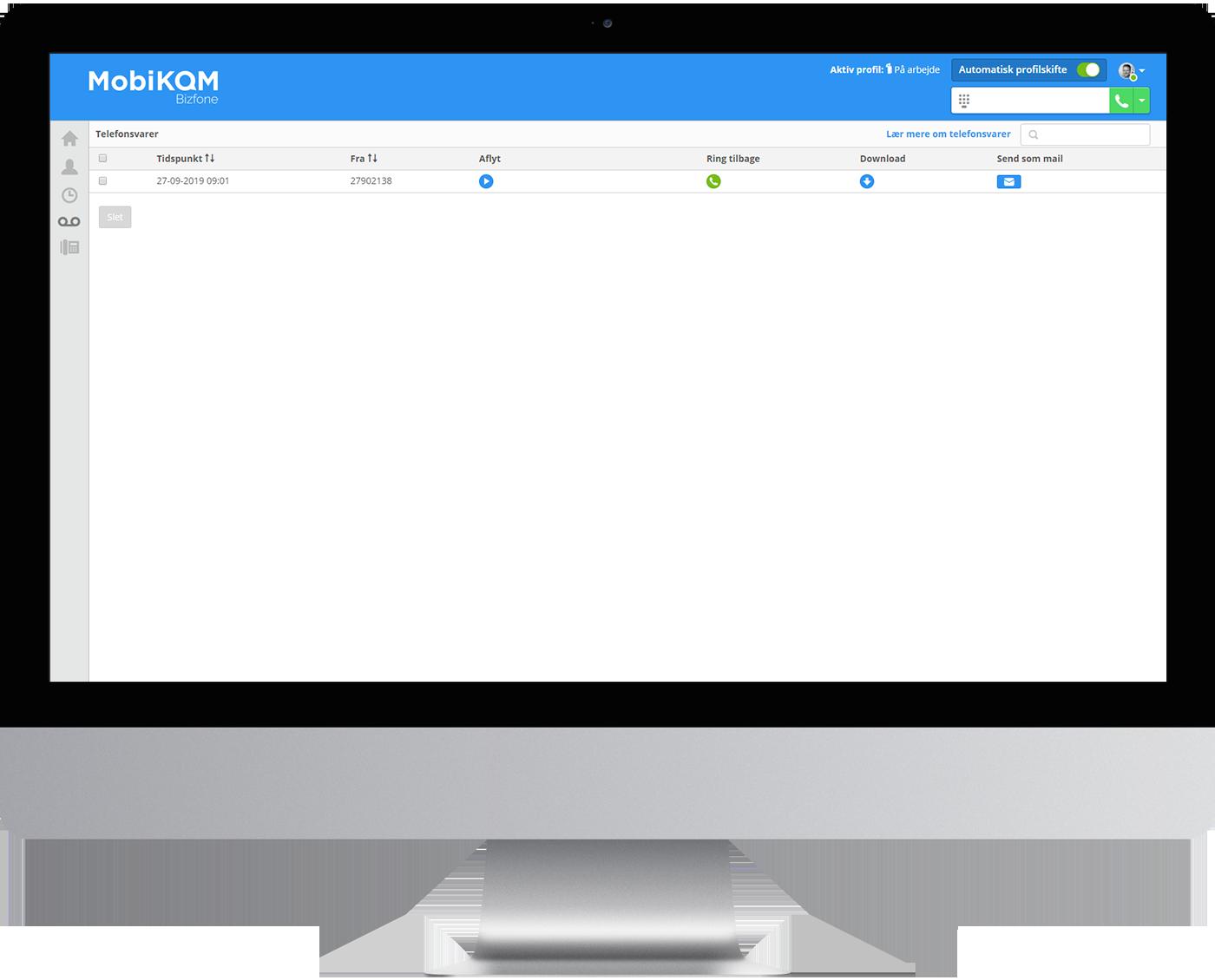 MobiKOM – Bizfone telefoniløsning – Telefonsvarbeskeder